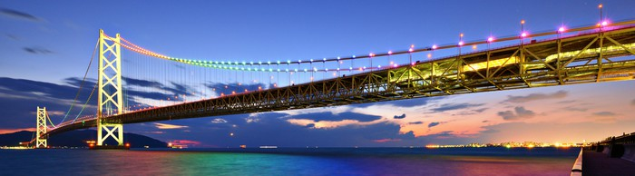 Vinylová Tapeta Pearl most se klene nad Seto vnitrozemské moře z Kobe, Japonsko - Asie