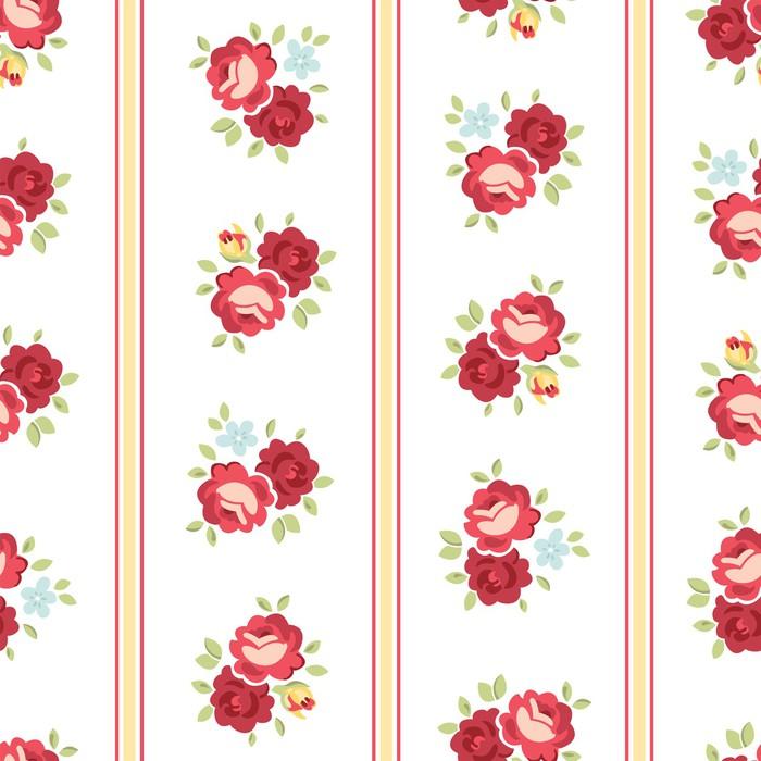 Papier Peint Motif Rose Seamless Shabby Chic Inspiré, Vecteur De Fond