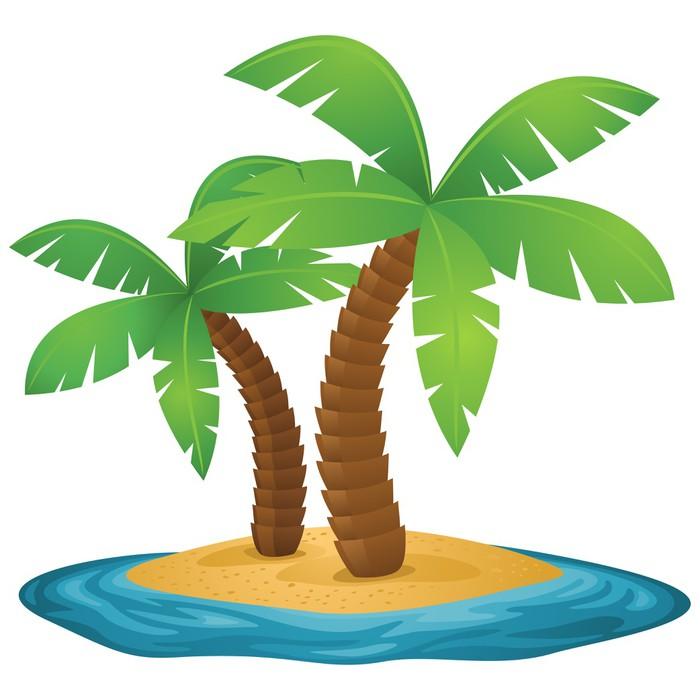Vinilo Pixerstick Isla, palmeras, mar, playa • Pixers® - Vivimos ...