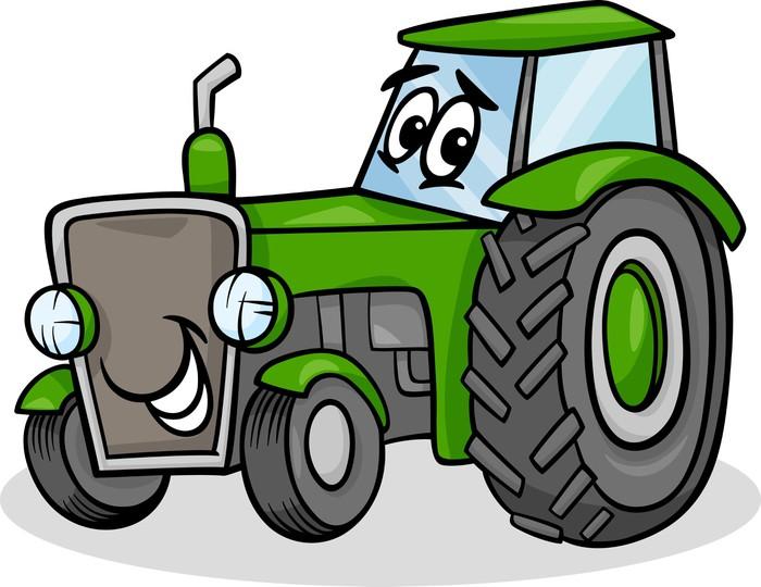 Fototapete traktor charakter cartoon pixers wir leben