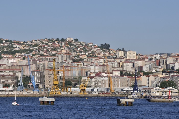 Vinylová Tapeta Přehled Vigo, největší město v Galicii v severozápadním Sp - Prázdniny