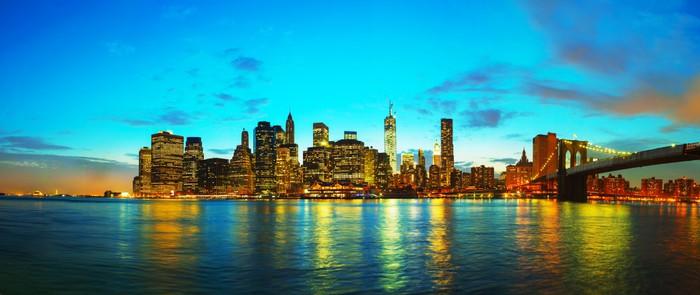Vinylová Tapeta New York panoráma města při západu slunce -