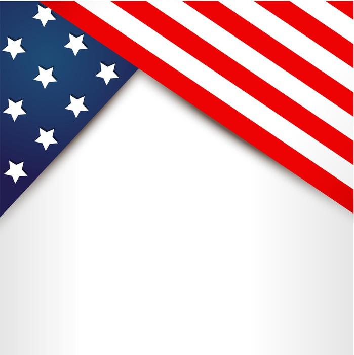 Vinylová Tapeta Americká vlajka design - Pozadí