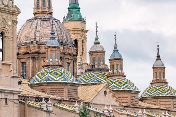 Vinylová fototapeta Katedrála Pilar v Zaragoza město Španělska - Vinylová fototapeta