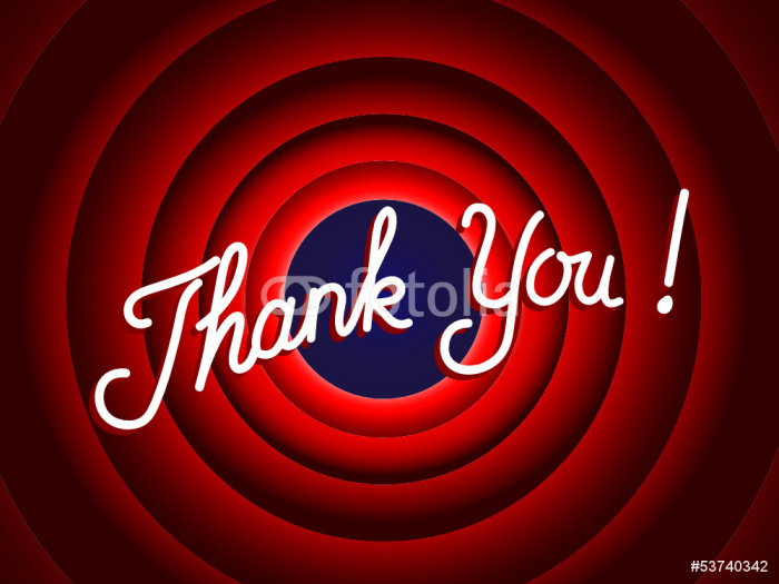 Thank you message thanks the end conclusion presentation for Thank you mural
