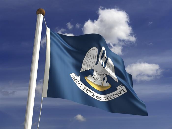 Vinylová Tapeta Louisiana Flag - Svoboda
