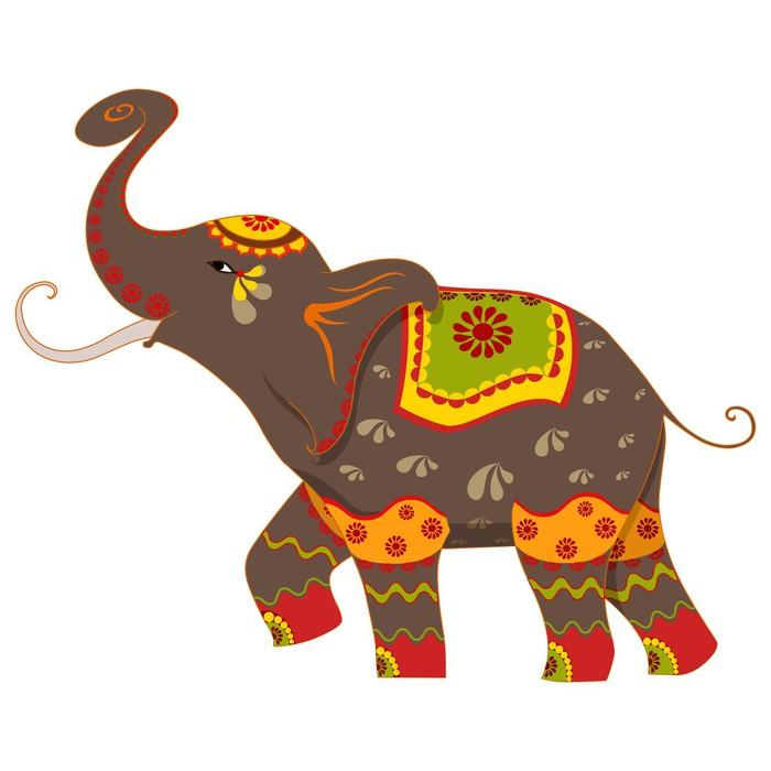 Vinylová fototapeta Vektorové ilustrace zdobené slona - Vinylová fototapeta