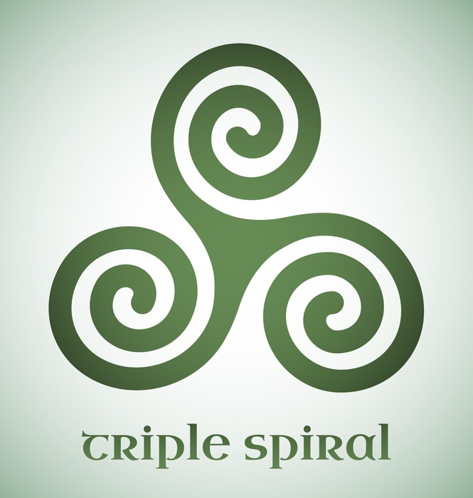 Celtic Triple Spiral Sticker Pixers We Live To Change