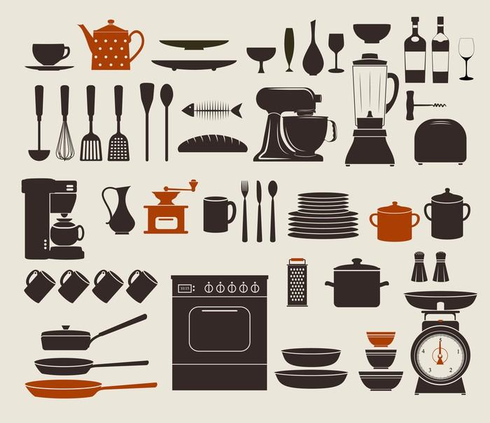 Sticker ustensiles de cuisine les ustensiles et ic nes - Les ustensiles de cuisine ...