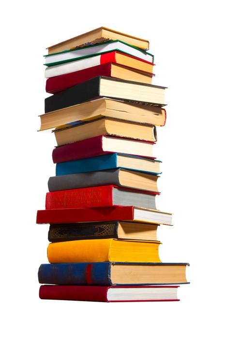Carta da parati pila di libri pixers viviamo per il for Carta da parati libri