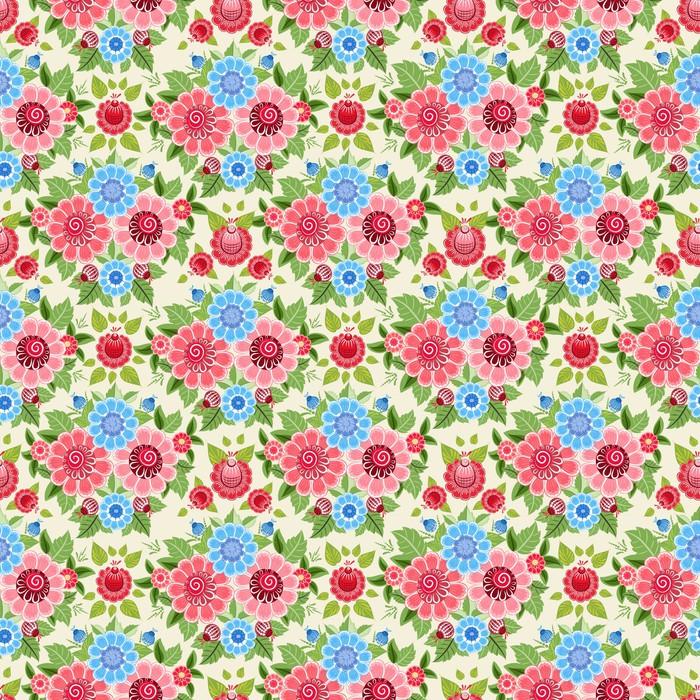 Vinylová Tapeta Nádherné květinové bezešvé textury - Pozadí