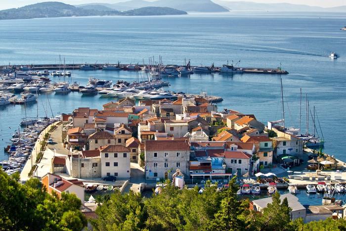 Vinylová Tapeta Dalmatin město Tribunj, Vodice letecký pohled - Evropa