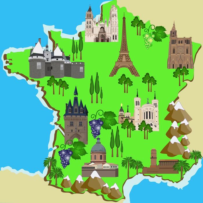 Vinylová Tapeta Mapa Francie - Situace v podnikání