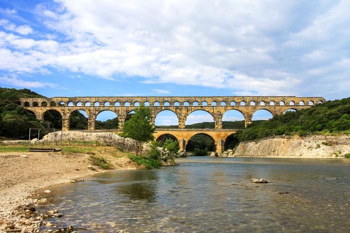Vinylová Tapeta Roman Pont du Gard v jižní Francii - Evropa