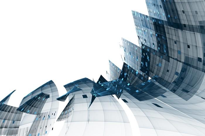 Vinylová Tapeta Modrá abstraktní pozadí - Pozadí