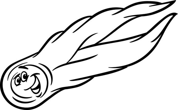 Vinilo Pixerstick Colorear dibujos animados cometa • Pixers ...