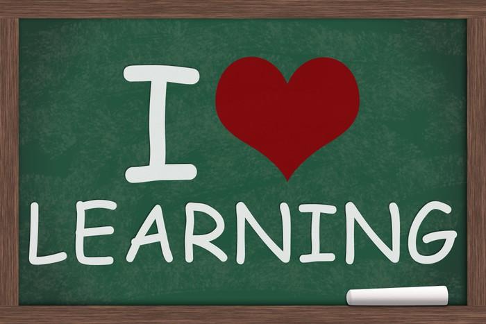 Vinylová Tapeta Miluju učení - Vzdělávání