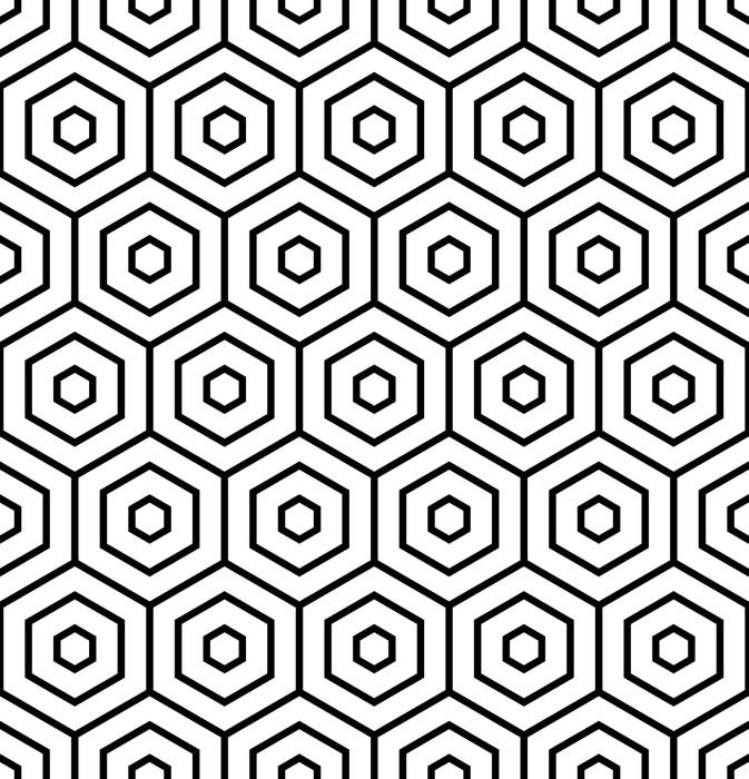 Papier peint texture hexagones seamless geometrique for Kitchen cabinets lowes with poser papier peint
