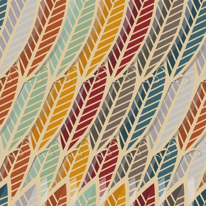 Vinylová Tapeta Bezešvé vzor s abstraktní peří - Pozadí