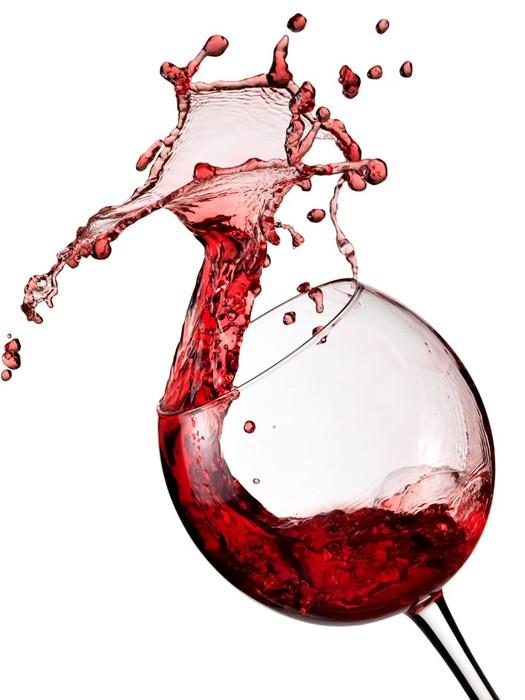 Vinylová Tapeta Červené víno stříkající - Témata