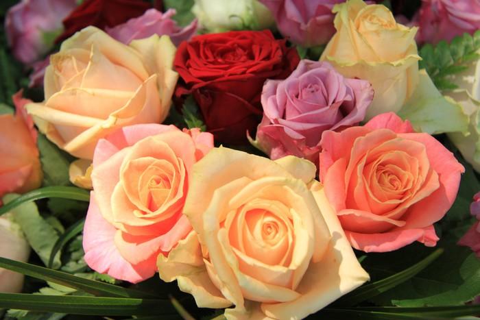 Vinylová Tapeta Pastel růže svatební uspořádání - Slavnosti