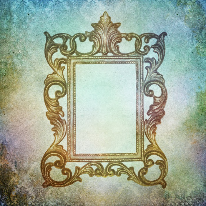 Vintage shabby chic background with frame Wall Mural • Pixers® • We ...