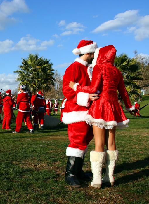 Vinylová Tapeta Santa Claus a Sněhurka - Mezinárodní svátky