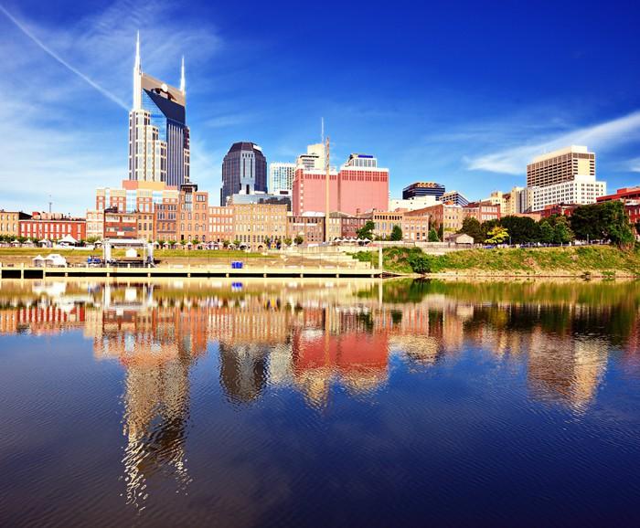 Vinylová Tapeta Downtown Nashville - Amerika