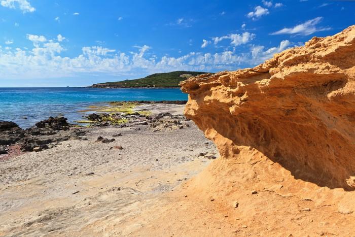 Vinylová Tapeta La Caletta beach - ostrov San Pietro - Evropa