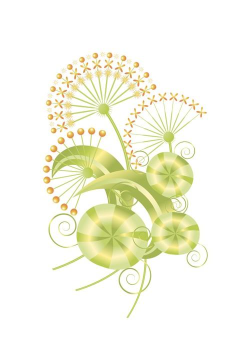 Sticker Pixerstick Fleurs mis en - Plantes