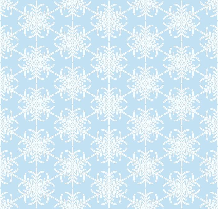 Vinylová Tapeta Modrá bezešvé sněhová vločka vzor - Témata