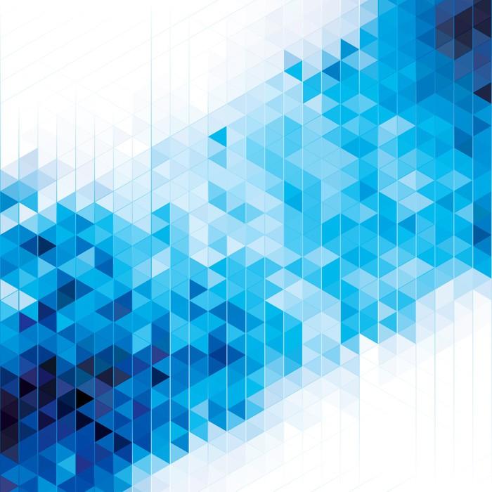 Fotomural fondo azul abstracto geom trico moderno pixers vivimos para cambiar - Fotomurales pixel ...