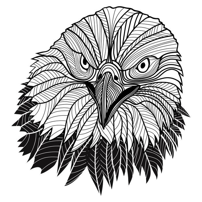 Bald Eagle Head As Usa Symbol For Mascot Or Emblem Design Logo