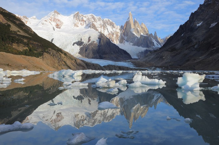 Cerro Torre mountain. Los Glaciares National park. Vinyl Wallpaper - America