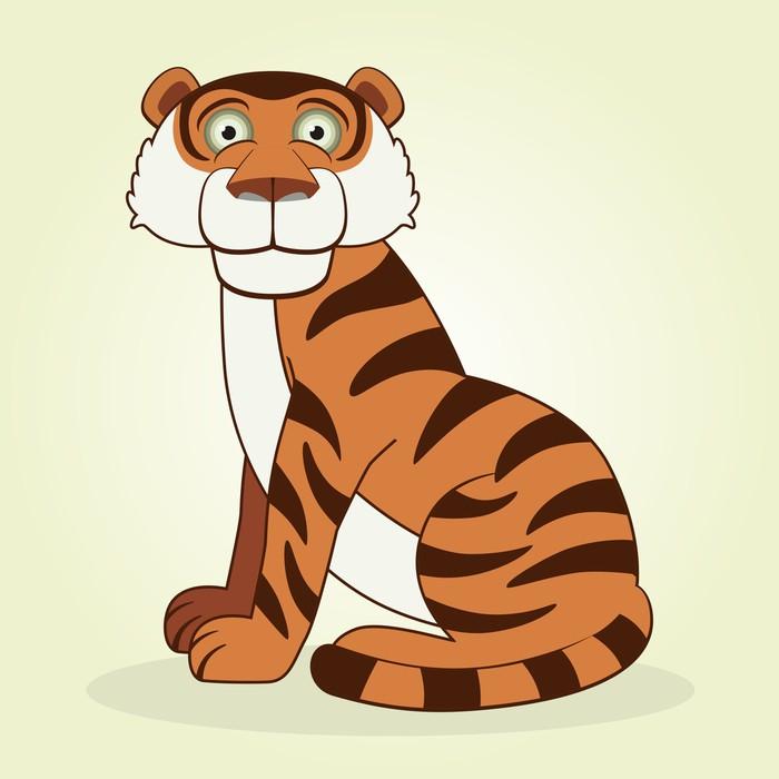 Wandtattoo Tiger • Pixers® - Wir leben, um zu verändern