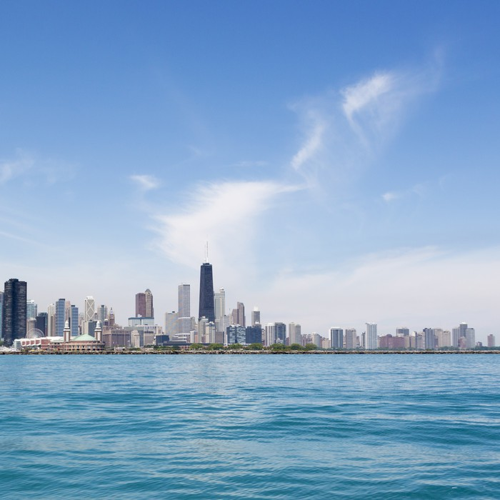 Chicago Skyline Wall Mural Pixers We Live To Change
