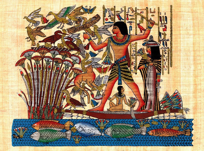 fototapete alte gyptische papyrus symbolisiert familie. Black Bedroom Furniture Sets. Home Design Ideas