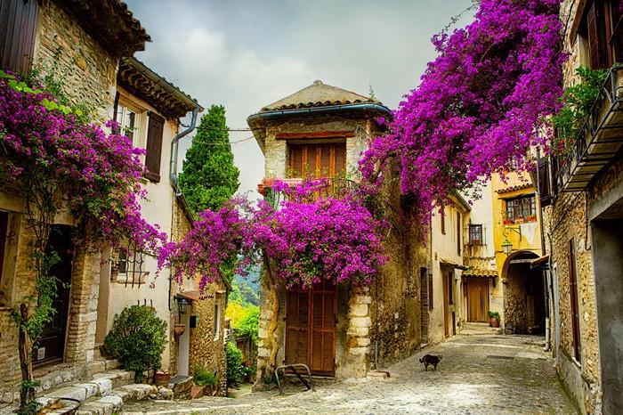 Vinylová fototapeta Umění, krásné staré město z Provence - Vinylová fototapeta