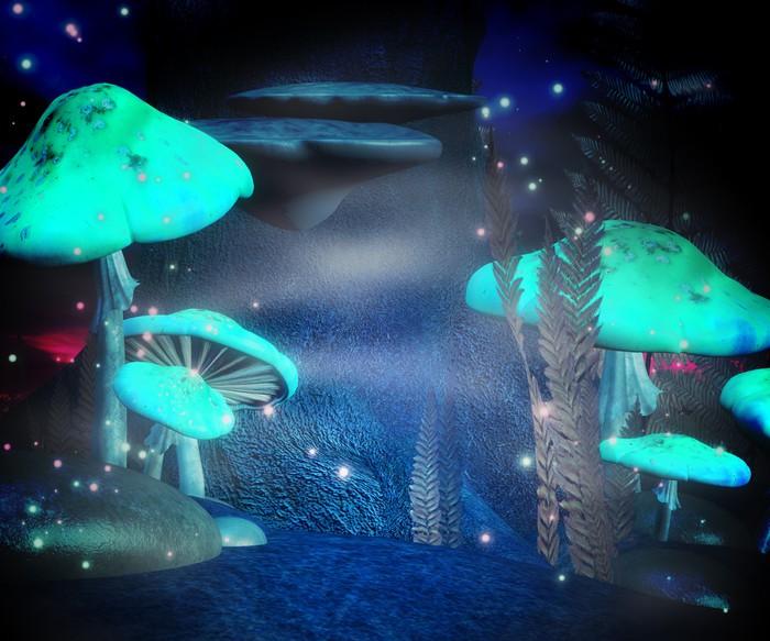 Vinylová Tapeta Magické houby Night Kulisa - Prvky podnikání