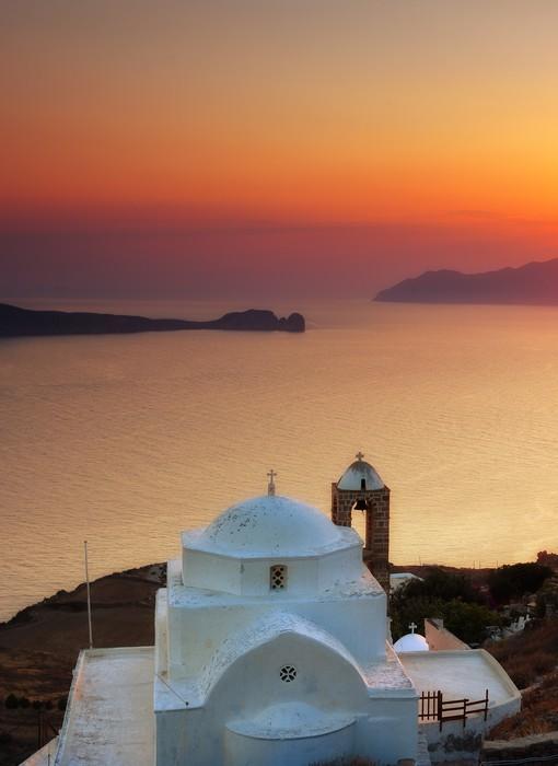 Vinylová Tapeta Panagia Thalassitra kostel, Miloš ostrov, Kyklady, Řecko - Evropa