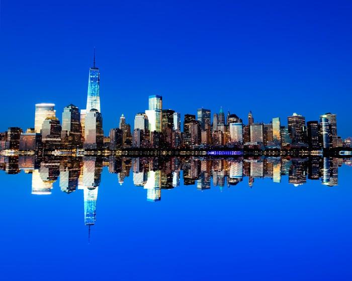 Vinylová Tapeta Nový Věž svobody a Dolní Manhattan Skyline - Amerika