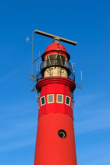 Vinylová Tapeta Top z červeného majáku na ostrově Schiermonnikoog. - Evropa