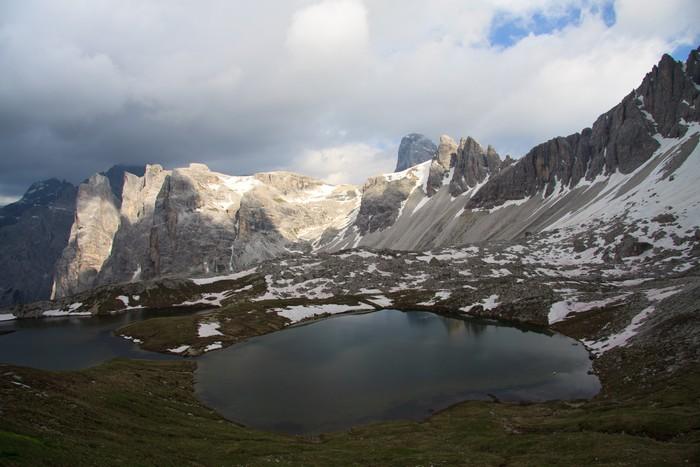 Fototapete Seen Der Pläne, Unter Dem Schutz Locatelli (Dolomiten)