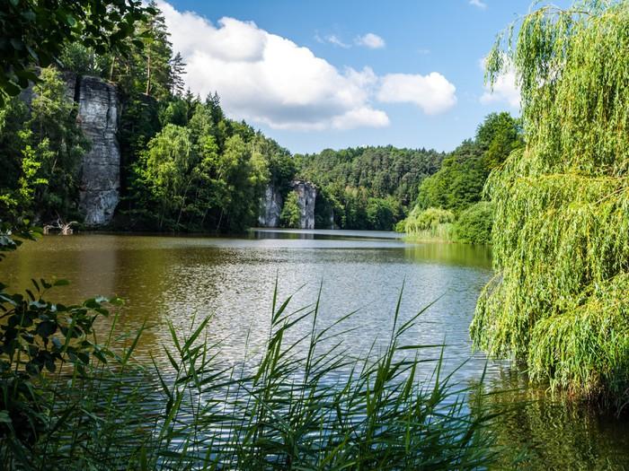 Vinylová Tapeta Jezero Věžák v Českém ráji - Evropa