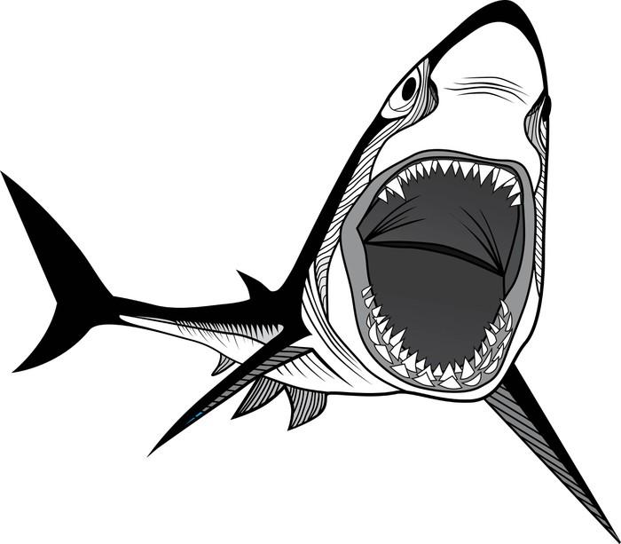 Pixerstick Aufkleber Shark Fischkopf - Haie