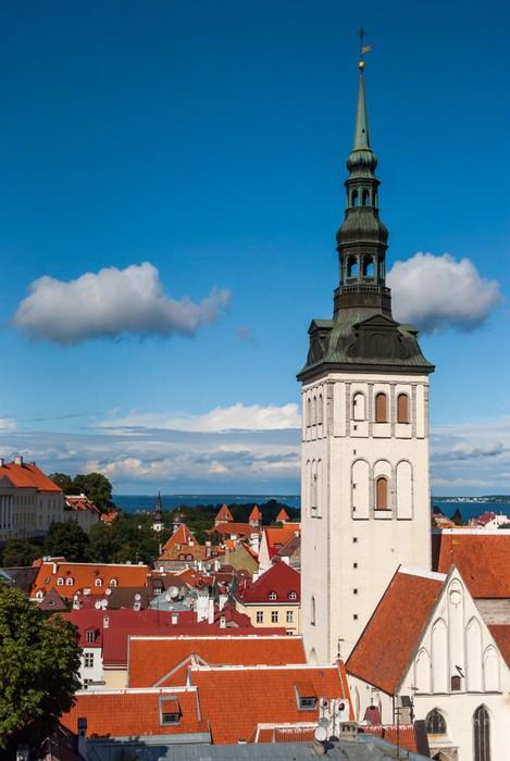 Vinylová Tapeta Tallinn, kostel svatého Mikuláše, Estonsko - Evropa