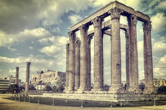 Vinylová Tapeta Starověký chrám olympionika Zeus, Athens, Řecko - Témata