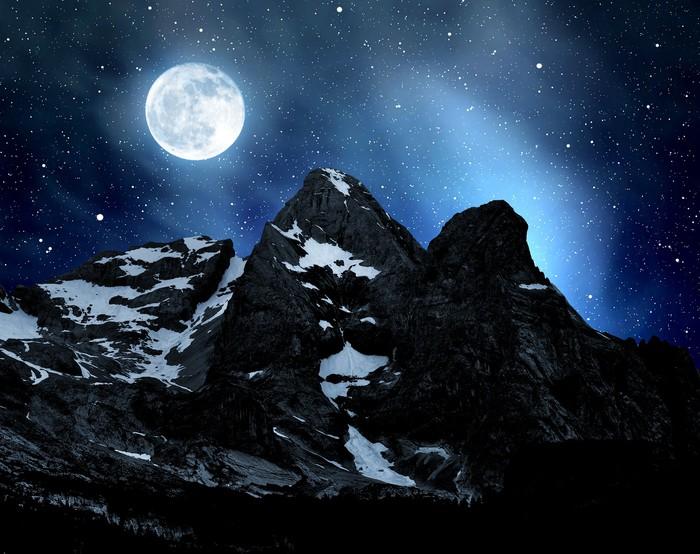 Vinylová fototapeta Marmolada vrchol, Val di Fassa - Itálie Alpy - Vinylová fototapeta