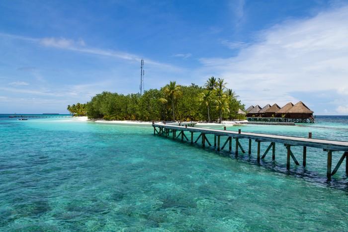 Vinylová Tapeta Island Resort, Maledivy - Asie