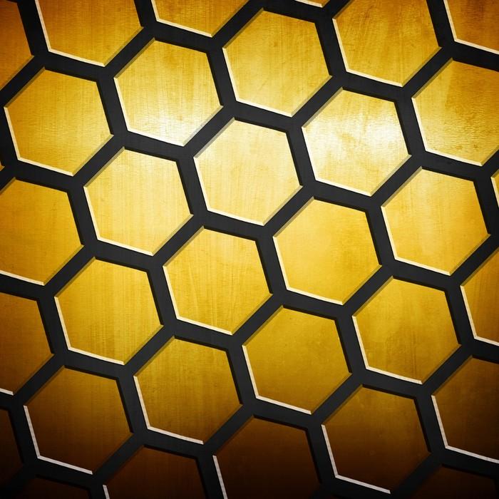 Vinylová fototapeta Golden mřížky na pozadí - Vinylová fototapeta